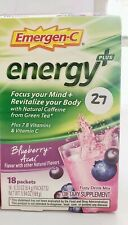 Emergen-C Energy Plus Blueberry Acai Dietary Supp Drink 18 packets Exp 2021+