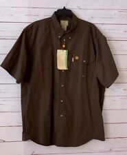 NWT BERETTA Mens Size XL Brown Short Sleeve Shirt Hunting Shooting Cotton