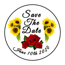 Personalized Save the date Wedding Stickers, labels, envelope seals