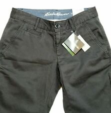 Eddie Bauer Pants Size 2 Charcoal Gray Boyfriend Relaxed Fit Front Back Pockets