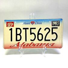 ALABAMA Heart of Dixie License Plate Expired 2002 #1BT5625