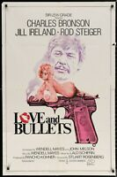 LOVE AND BULLETS Charles Bronson 1979 ONE SHEET MOVIE POSTER 27 x 41