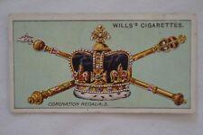 Vintage - 1911 - Wills Coronation Series Card - Coronation Regalia # 3.