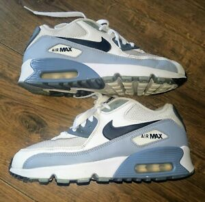 Men's Nike Air Max 90 Trainers in White / Grey in Size 5.5 UK