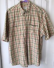 Eddie Bauer Men's Medium 100% Cotton Short Sleeve Shirt