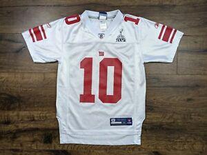 Reebok New York Giants Eli Manning Super Bowl XLVI Jersey Size Youth Medium