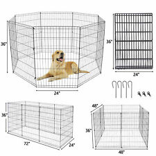 New listing 36 Inch 8 Panels Dog Playpen Crate Fence Pet Play Pen Exercise Kennel Cage