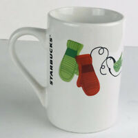 Christmas Starbucks 2001 Holiday Dove Bird Mittens Mug  Cold Winter Clothes 10oz