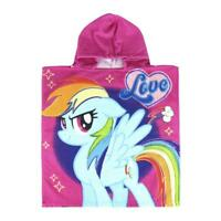 Hooded Bath Beach Towel Poncho My Little Pony For Kids & Childrens Girls