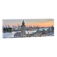Hamburg Bild auf Leinwand Poster Modern Design Wandbild  XXL 150 cm*50 cm 473