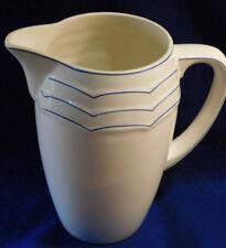 vintage ancien CRUCHE sarreguemines U&C pot CARAFE jug BLEUE et BLANCHE vase