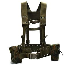 Original German army Webbing system 4 pcs tactical belt harness Load bearing kit