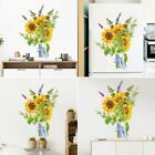 Sunflower Flower Wall Art Stickers Removable Self-adhesive Home Decor 30*39 Cm