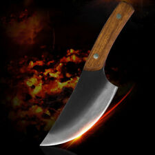Kitchen High Clad Steel Cleaver Knife Chopper Master Chef Meat Bone Butcher Wood