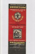 MATCHBOOK COVER Pangborn Dust Control Equipment Hagerstown, Maryland Cleaning