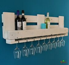BOTELLERO PARA VINO palets Muebles Estante de Pared Madera Barra REGALO rural