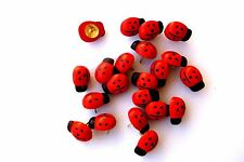 20 Charming Ladybug  Thumb Tacks Push Pins for Office Decor Dorms 5/8 inch