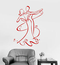 Vinyl Wall Decal Waltz Dance Couple Ballroom Stickers Mural (ig3973)