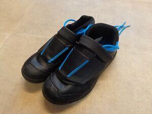 Shimano AM7 Flat  Sole MTB Trail Shoe Blue/Black-Size UK8 -Euro 42-Worn Once !!