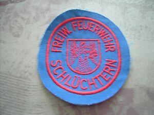 Feuerwehr Ärmelabzeichen Freiw. Feuerwehr Schlüchtern rot