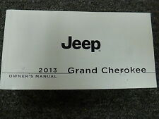 2013 Jeep Grand Cherokee SUV Owner Operator Manual Laredo Overland Limited SRT8