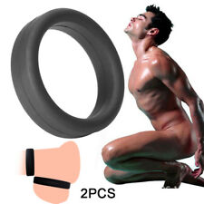 2PCS QUALITY PENIS RING_MALE CHASTITY DEVICE COCK_CAGE BALLS STRETCHER DELAY AID