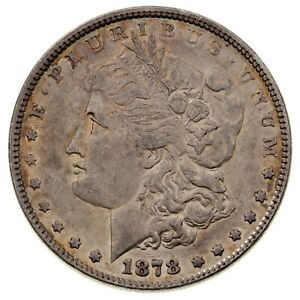 1878 7TF Rev 78 $1 Silver Morgan Dollar in AU Condition, Nice Luster