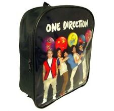 1D ONE DIRECTION BUTTON CHILDRENS SCHOOL BACKPACK RUCKSACK BLACK BAG KIDS 263983
