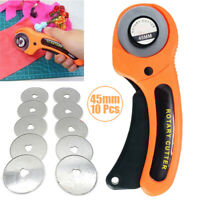 45mm Round Wheel Rotary Cutter Quilting Sewing Roller Fabric Cutting Craft Tools