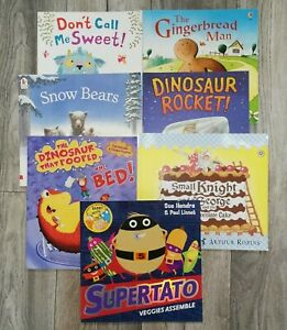 Childrens kids pre school Book Bundle x 7 bedtime picture story  bundle reading