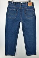 Levi's 550 Relaxed Fit Jeans Mens Size 38x32 Blue Meas. 36x32