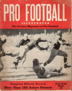 1945 Pro Football Illustrated magazine, More Than 150 Action Pictures ~ Poor