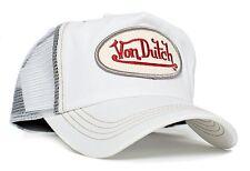 Authentic Brand New Von Dutch White Chris Cap Hat Red Signature