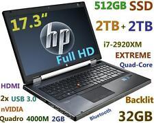 """(3D-Design 17.3"""" FHD) HP 8760w i7-EXTREME (512GB SSD + 2x 2TB 32GB) nVIDIA 4000M"""