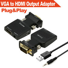 VGA to HDMI Output,HD 1080P TV AV HDTV Video Cable Converter Adapter with Audio
