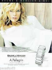 PUBLICITE ADVERTISING 115  2007  BAUME & MERCIER montre Hampton KIM BASINGER