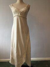 RIVER ISLAND Cream / Stone Strappy Summer Day Dress Size 10 VGC
