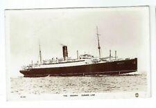 OLD SHIPPING POSTCARD CUNARD LINER ASCANIA REGENT REAL PHOTO VINTAGE 1920S