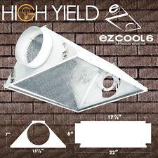 "6"" AIR COOLED REFLECTOR HOOD Grow Light Lamp Hydroponics Hydroponic HPS GLASS"