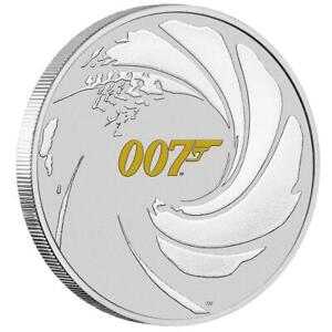 Tuvalu - 1 Dollar 2021 - James Bond 007™ - mit Farbe - 1 Oz Silber ST
