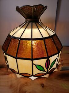 Tiffany Style Pendant Light Kitchen Bar Stained Glass Dome Hanging Ceiling Lamp.