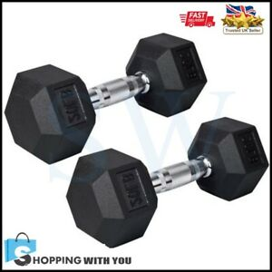 1 Pair 9Kg Dumbbells Weights Set Home Fitness Training Weight Workout Set New UK