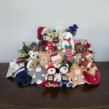 Lot of 28 Boyds Bears Plush Christmas Mix Ornament Decoration Seasonal