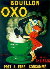 BOUILLON OXO by Leonetto Cappiello Vintage Food Advertising Canvas Print 22x30
