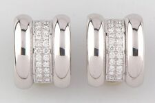 Chopard La Strada 18k White Gold & Diamond Clip-On Earrings