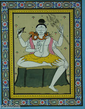 Hindu  God Shiv Shankar Paper Painting  Artist color INDIA ART Hand Painted