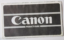 1980 Canon Products Guide 35mm SLR Cameras F1 A1 AE1 AL1 - English - USED B37 AC