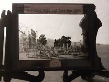 """Magic Lantern Glass City Hall and Park Row 1830 """"Museum of the Cily of New York"""""""