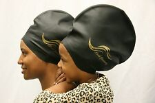 XL BLACK - DREADLOCK SWIM CAP