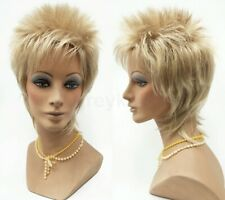 Short Spiky Rod Stewart Rocker Wig Unisex Synthetic Costume Cosplay Blonde